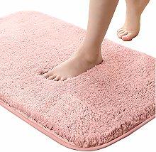 MNEUSHOP Bath Mat Pink, Microfiber Soft Shag Super