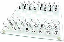 MNJM Shot Glass Chess Set Drinking Game Set