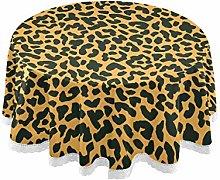 Mnsruu 60 Inch Round Animal Leopard Print