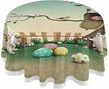 Mnsruu 60 Inch Round Easter Egg Egg Bunny