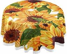 Mnsruu 60 Inch Round Summer Floral Flower