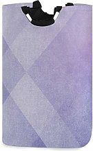 Mnsruu Abstract Purple Geometric Laundry Hamper