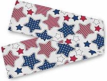 MNSRUU American Stars And Stripes Table Runner,
