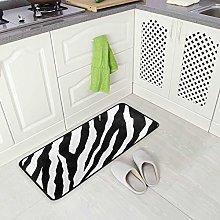 Mnsruu Animal Zebra Print Area Rug Rugs Floor Mat