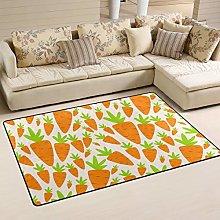 Mnsruu Area Rug, Carrot Carpet Non Slip Yoga Floor