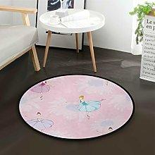 Mnsruu Ballerina Dancer Daisy Flower Pink Round
