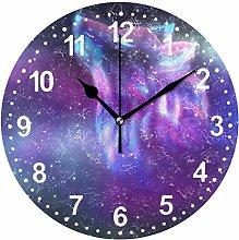 Mnsruu Bathroom Clock Wall Clock for Living Room