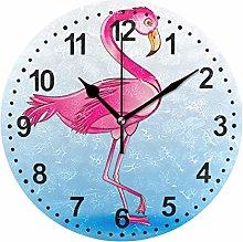 Mnsruu Bathroom Wall Clock Non Ticking Silent
