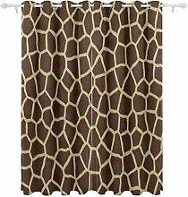 Mnsruu Blackout Curtain, Animal Print Giraffe