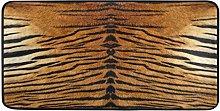 Mnsruu Brown Tiger Animal Area Rug Rugs Floor Mat