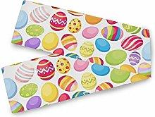 MNSRUU Colored Easter Eggs Table Runner, Table