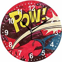 Mnsruu Comics Superhero Round Wall Clock Non