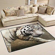 MNSRUU Cute Tiger Animal Area Rug for Living Room