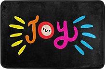 Mnsruu Doormat Joy Area Rug for Bedroom Front Door