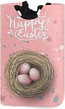 Mnsruu Easter Egg Bunny Pink Laundry Basket Hamper