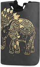 Mnsruu Gold Elephant Boho Mandala Laundry
