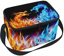 Mnsruu Insulated Neoprene Lunch Bag Lunchbox Fire