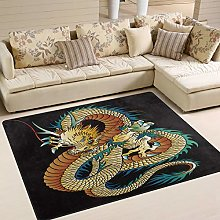 Mnsruu Japanese Oriental Dragon Area Rug Rugs for