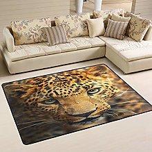 Mnsruu Leopard Animal Area Rug Rugs for Living