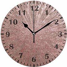 Mnsruu Luxury Sparkling Rose Gold Wall Clock for