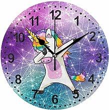Mnsruu Magic Unicorn Wall Clock Non Ticking Silent
