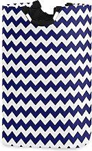 Mnsruu Navy Blue Chevron Zigzag Striped Laundry