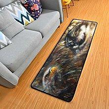 Mnsruu Non Slip Runner Rug for Hallway Living Room