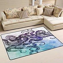 Mnsruu Octopus Ocean Sea Abstract Area Rug for