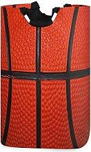 Mnsruu Orange Basketball Sport Ball Laundry Basket