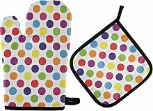 MNSRUU Oven Gloves and Pot Holders Set Colorful