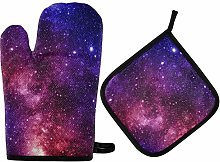 MNSRUU Oven Gloves and Pot Holders Set Purple