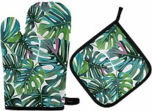 MNSRUU Oven Gloves and Pot Holders Set Tropical