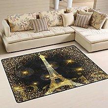 Mnsruu Paris Eiffel Tower France Area Rug Rugs for