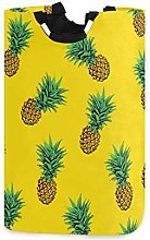 Mnsruu Pineapple Yellow Fruit Laundry Basket