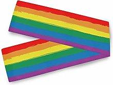 MNSRUU Rainbow Respect Pride Flag Table Runner,