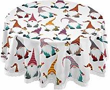 MNSRUU Round Tablecloths, Christmas Gnomes