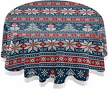 MNSRUU Round Tablecloths, Christmas Pattern
