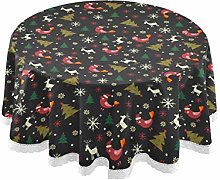 MNSRUU Round Tablecloths, Christmas Trees
