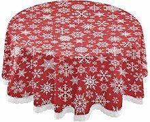MNSRUU Round Tablecloths, Christmas White