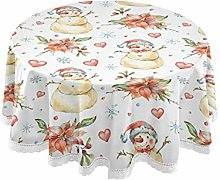 MNSRUU Round Tablecloths, Winter Watercolor