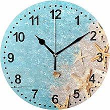 Mnsruu Starfish Bathroom Clock Wall Clock Non