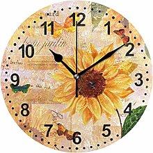 Mnsruu Sunflower Wall Clock Non Ticking Silent