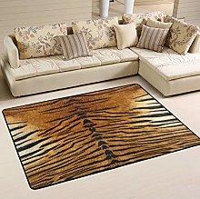 Mnsruu Tiger Animal Print Area Rug Rugs for Living
