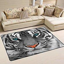 Mnsruu Tiger Head Area Rug Rugs for Living Room