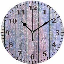 Mnsruu Vintage Colorful Wood Wall Clock for