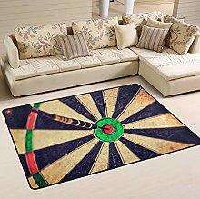 Mnsruu Vintage Dart Area Rug for Living Room