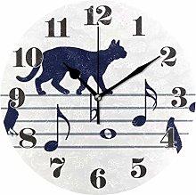 Mnsruu Wall Clock Silent Non Ticking, Round