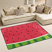 Mnsruu Watermelon Fruit Summer Area Rug for Living