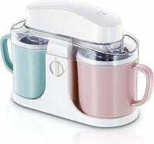 MNSSRN Double-Bucket Ice Cream Machine, Home-Made