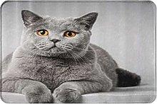 MOBEITI Anti-Slip Washable Soft Flannel Carpet,Cat